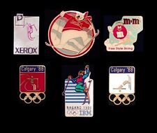 Set~Lot~6 Olympic Pin Badge~Freestyle Skiing~NEW!!~Moguls~Aerials~Sponsor/Mascot
