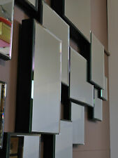 """""""STRATUS"""" LARGE ABSTRACT WALL MIRROR-modern deco contemporary-bedroom entrance"""