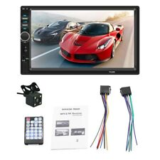"""7"""" Double 2 Din Touch Screen Car Bluetooth Stereo FM Radio+Camera MP5 MP3 Player"""
