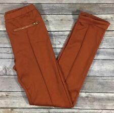 2-HIP by Wrapper Girls Pull On Slim Skinny Pants Large Rust Orange Stretch V38
