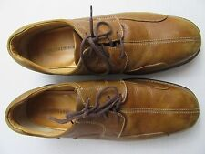 Johnston & Murphy Light Brown Leather Oxfords w/ Sheep Skin Insoles Size 11.5 W
