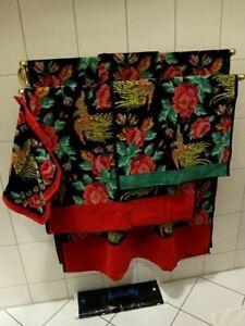 FEILER Set Seiftuch Gästetuch Handtuch & Duschtuch Phönix Chrysanthemen schwarz³