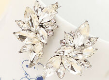 Wholesale  Jewelry White Crystal Rhinestone Ear Drop Dangle Stud Earrings 62