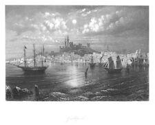 Gelibolu, Gallipoli, Türkei, Gesamtansicht, Stahlstich von ca. 1860