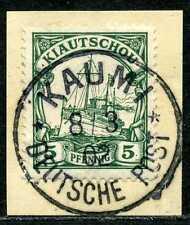 Kiautschou Mi 6  Luxusbriefstück  Kaumi
