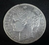 France 5 Francs (1849 -1852) Silver Ceres Head - VF