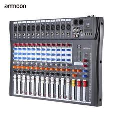 ammoon 12 Channels Mic Audio Mixer Console 3-band EQ USB XLR Input US Plug T8Y0