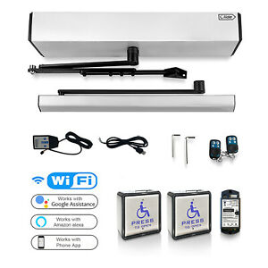 Olide  Protection Electric Door opener with 2 Wireless&Wired Stainless Swicth