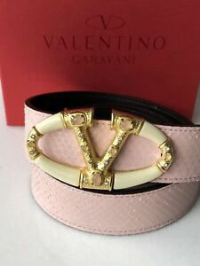 80s  Pink Snakeskin Skinny Belt Small 1980s Magenta Snakeskin Belt