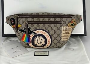 GUCCI Courrier GG Supreme Canvas Belt Waist Bum Bag Fanny Pack Beige 529711 B349