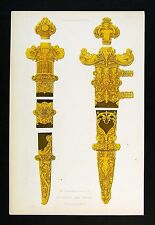 1843 Shaw Print - Ornamental Portions of a Sword & Daggar - Designed by Holbein