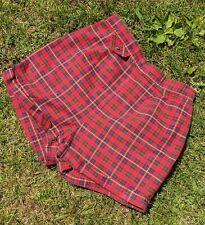 New listing Vintage 1960'S Red Tartan Plaid Print Cotton Shorts By Jantzen