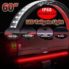 "60"" DOUBLE ROW LED Truck Tailgate Light Bar Flexible Strip Red & White Reverse"