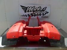 B07 HONDA 1984 TRX200 TRX 200 REAR FENDER RED PLASTIC W/ MUD FLAPS 84 OEM