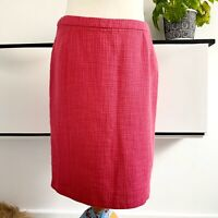 SEASALT Skirt Size 12 PINK | Smart CASUAL Midi BUNKER SKIRT Cotton