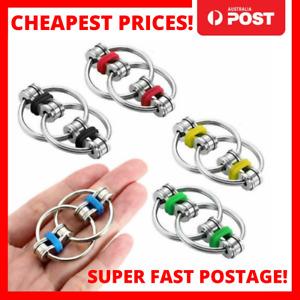Fidget Toy Key Ring Anti-anxiety Stress Relief Flippy Chain ADHD kids Toy AU