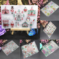 Colorful Christmas Scrapbook DIY Photo Card Silicone Transparent Stamp Xmas Gift