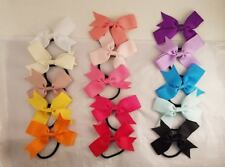 Amelia Pack of 15 Different Color Ribbon Bow Hair Ties Headbands