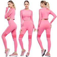 Women Tracksuit Sweatsuit Sports Suit Tops Shirt Leggings Yoga Pants Jogger Set