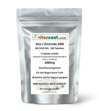 360 Tabletten Zimt / Zimtrinde Extrakt 2000 - HÖCHSTE DOSIERUNG - von VITASCOUT®