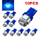 10Pcs T10 194 168 2825 5050 5SMD LED Super Bright Car Lights Lamp Bulb Blue