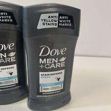 4- Dove Men+Care Stain Defense CLEAN Non Irritant 48HR Antiperspirant-2.7oz Each