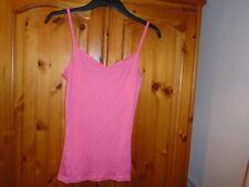 Coral pink v-neck waist length vest top, TU, size 10, NEW
