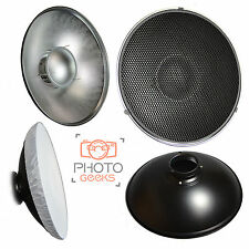 Beauty Dish + Honeycomb Grid + Diffuser - Bowens S Type Fitting Mount - Silver
