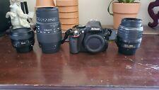 Nikon D5100 16.2MP DSLR Camera - Black w/ 18-55mm, 70-300mm, and 50mm