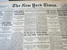1930 JULY 12 NEW YORK TIMES - SMITH LEADS BOBBY JONES BY 2 STROKES - NT 5643