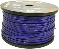 Cadence 14 AWG Gauge 20 Foot Blue Car Speaker Wire, True Gauge Wire
