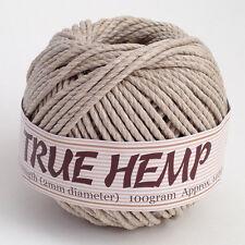 TRUE HEMP ball - NATURAL (no dye) 2mm 48lb - Hemp Creation 140feet/ 43m 100gram
