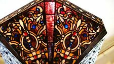 BEAUTIFUL LEADED STAINED GLASS WILKINSON LAMPSHADE EXCELLENT CONDITION