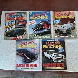 Vintage Street Machine magazines. Lot of 5. 1985-86.