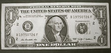 BIRTHDAY ANNIVERSARY NOTE 1975 JULY 26 Fancy Serial Number$1 One Dollar FRN 2009