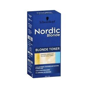 Schwarzkopf Nordic Blonde Toner Removes Unwanted Yellow Gold Tones 150ml
