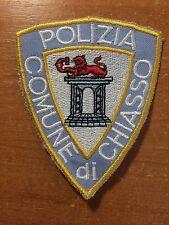 PATCH POLICE SWISS SWITZERLAND - COMUNE DI CHIASSO ( cantone TICINO ) - ORIGINAL
