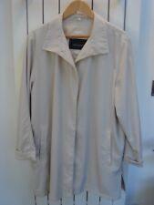 """""""Aquabury of London"""" Ladies 3/4 Length Beige Mac / Coat. SIZE UK LARGE ."""