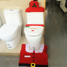 Christmas Bathroom Decoration Toilet Seat and Carpet