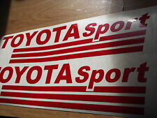 TOYOTA SPORT  VINYL CAR STICKERS x2
