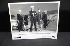 Autographed 8x10 B/W Photo of Leading Cast of TV Show Series JAG w/5 Signatures