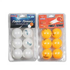6pcs Table Tennis Balls Plastic Ping Pong Small Replacement Practice Sport Pong