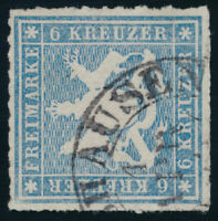WÜRTTEMBERG, MiNr. 32 b, sauber gestempelt, gepr. Heinrich, Mi. 110,-