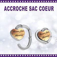 Accroche-sac coeur personnalisé BONNE FÊTE MAMAN  - St Valentin sac cadeau
