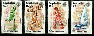 Seychelles stamps 1980 Set MNH - Moscow Olympic Games