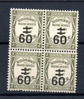 France 1926 60c on 1c Postage Due mint LHM block WS18297