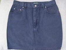 Polo Ralph Lauren Country Vintage Navy Blue Denim Mini Jean Skirt Misses 10