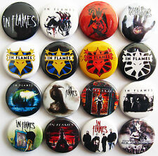 IN FLAMES Button Badges Pins Jester Race Whoracle Colony Jotun Clayman Lot of 16