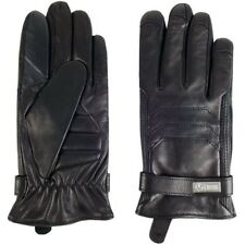 Hugo Boss Leather Gloves Kilox1-TT Size 8.5 in Black - Worn Once - Excellent