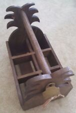 Tommy Bahama Wood Pineapple Outdoor Caddy Beer Wine w/ Attached Bottle Opener